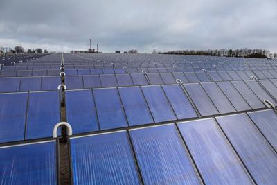 Arcon Solar komplet solvarmeanlæg opstillet for Grenaa Fjernvarme.